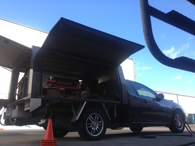 our truck wheel alignment service ute at Rocklea